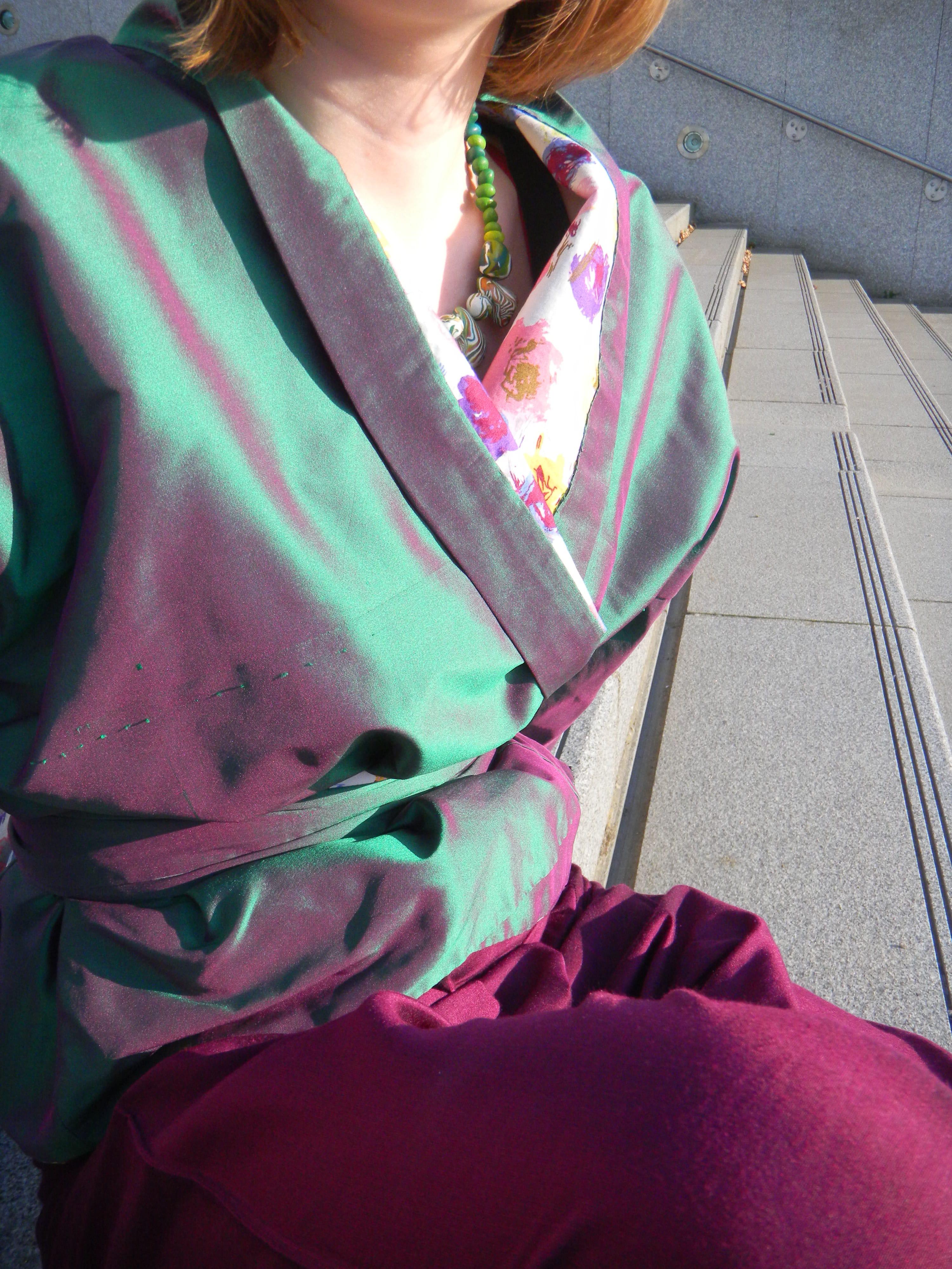 Louise.h vêtement veste soie verte