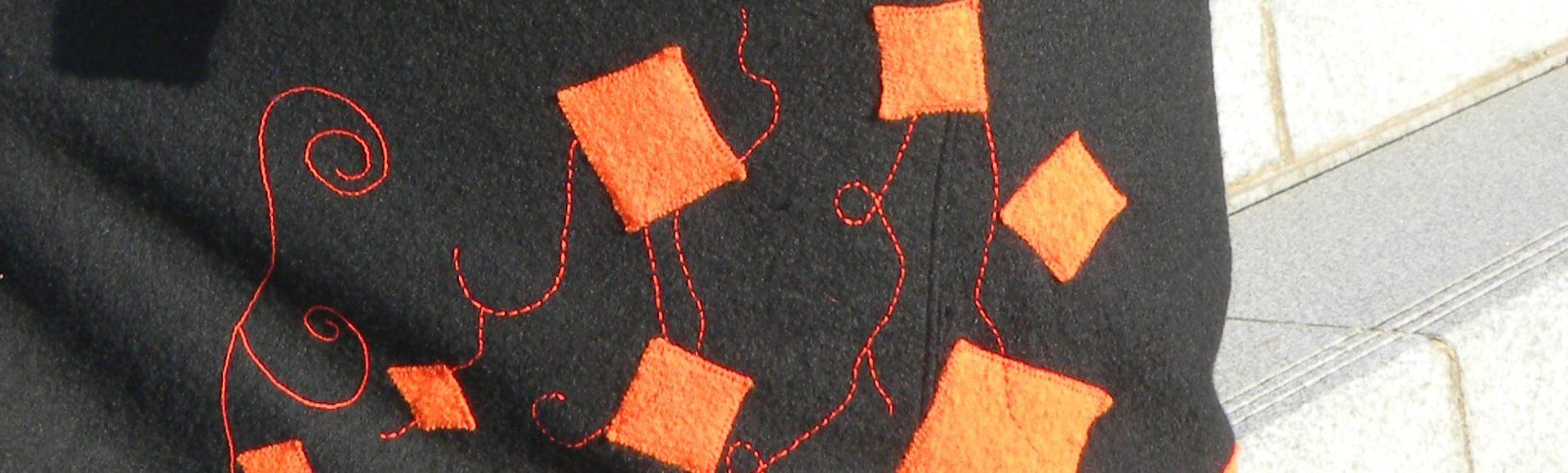 Louise.h vêtement veste jupe noires laine feutrée