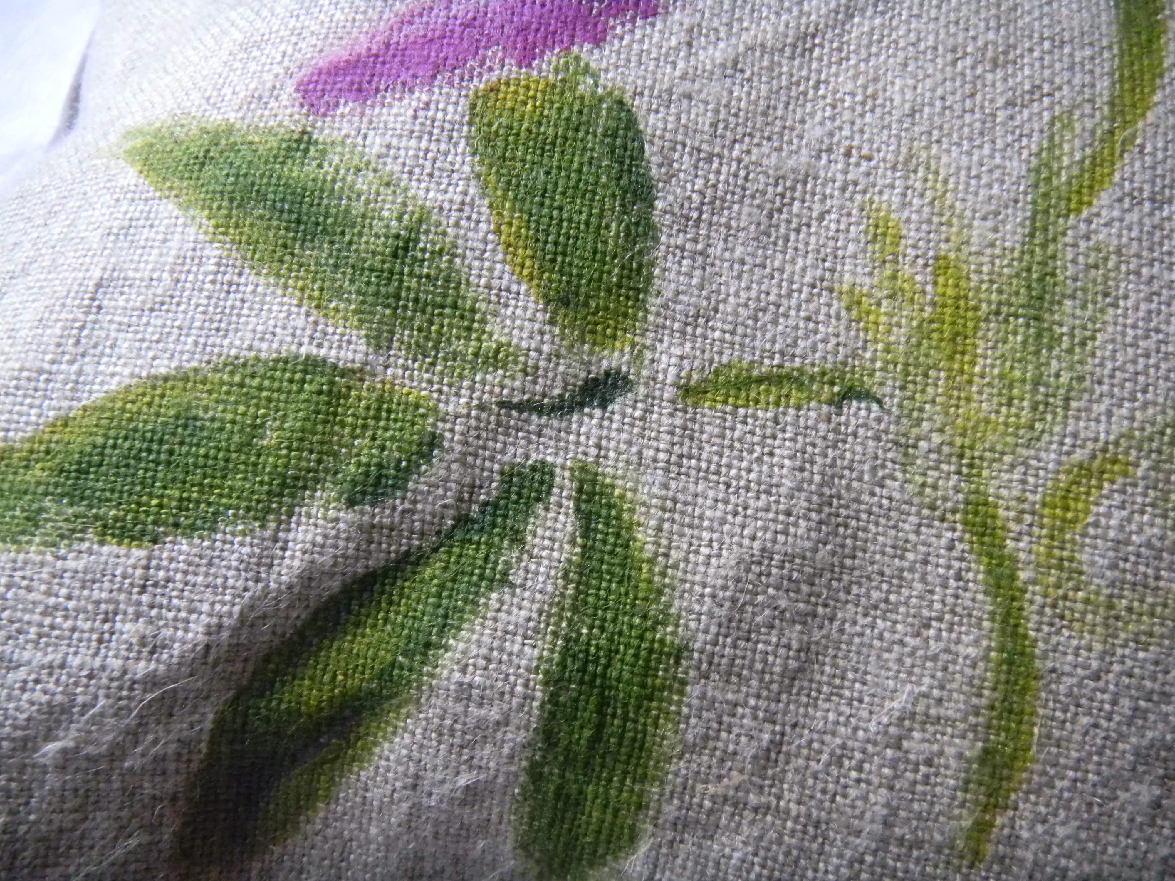 Louise.h décoration coussin peint détail