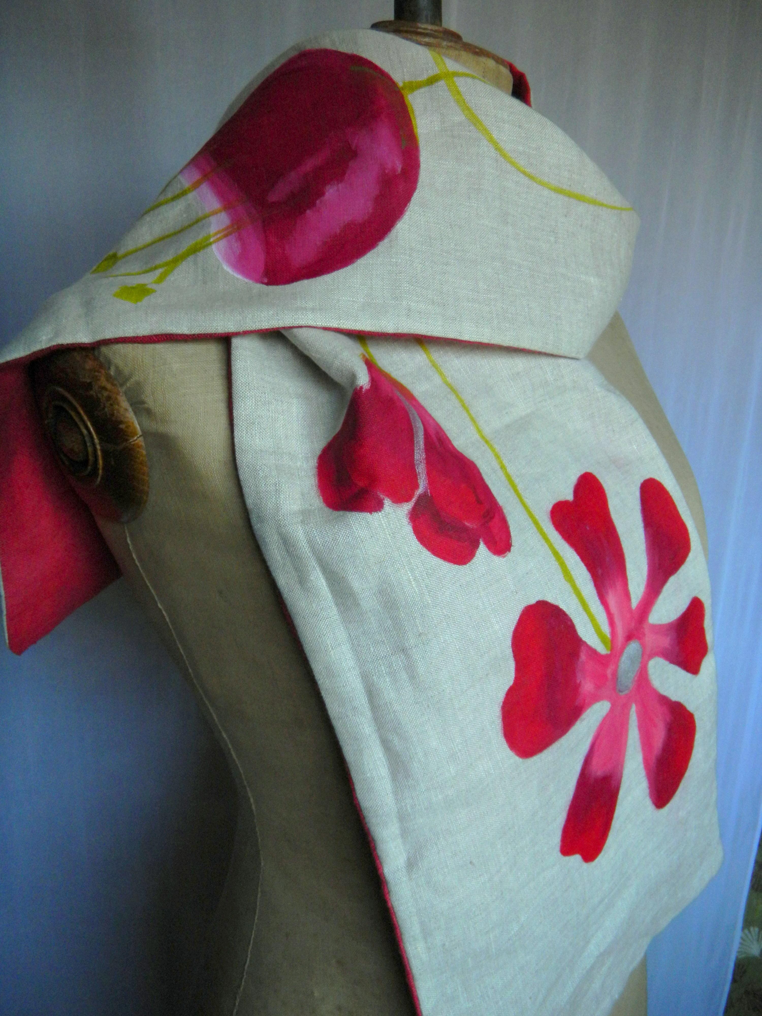 Louise.h accessoires écharpe peinte