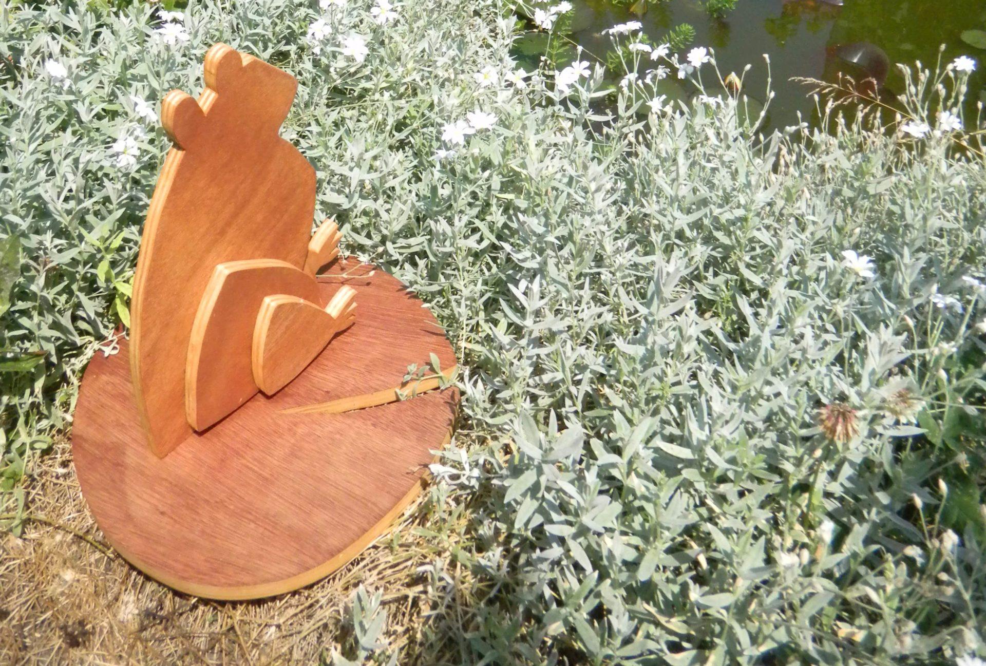 Louise.h décoration grenouille en bois