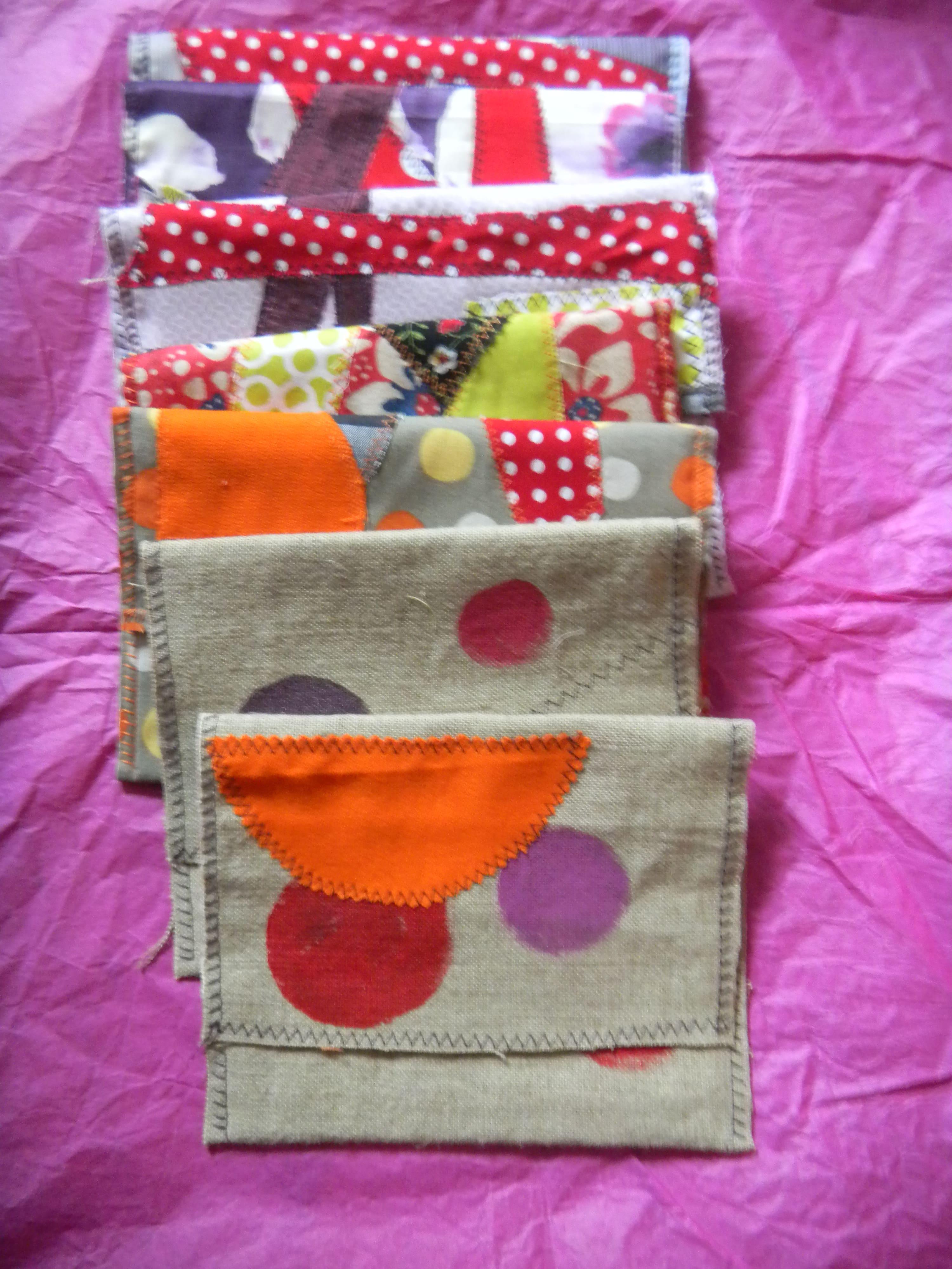 Louise.h accessoires pochettes lin peint et applications