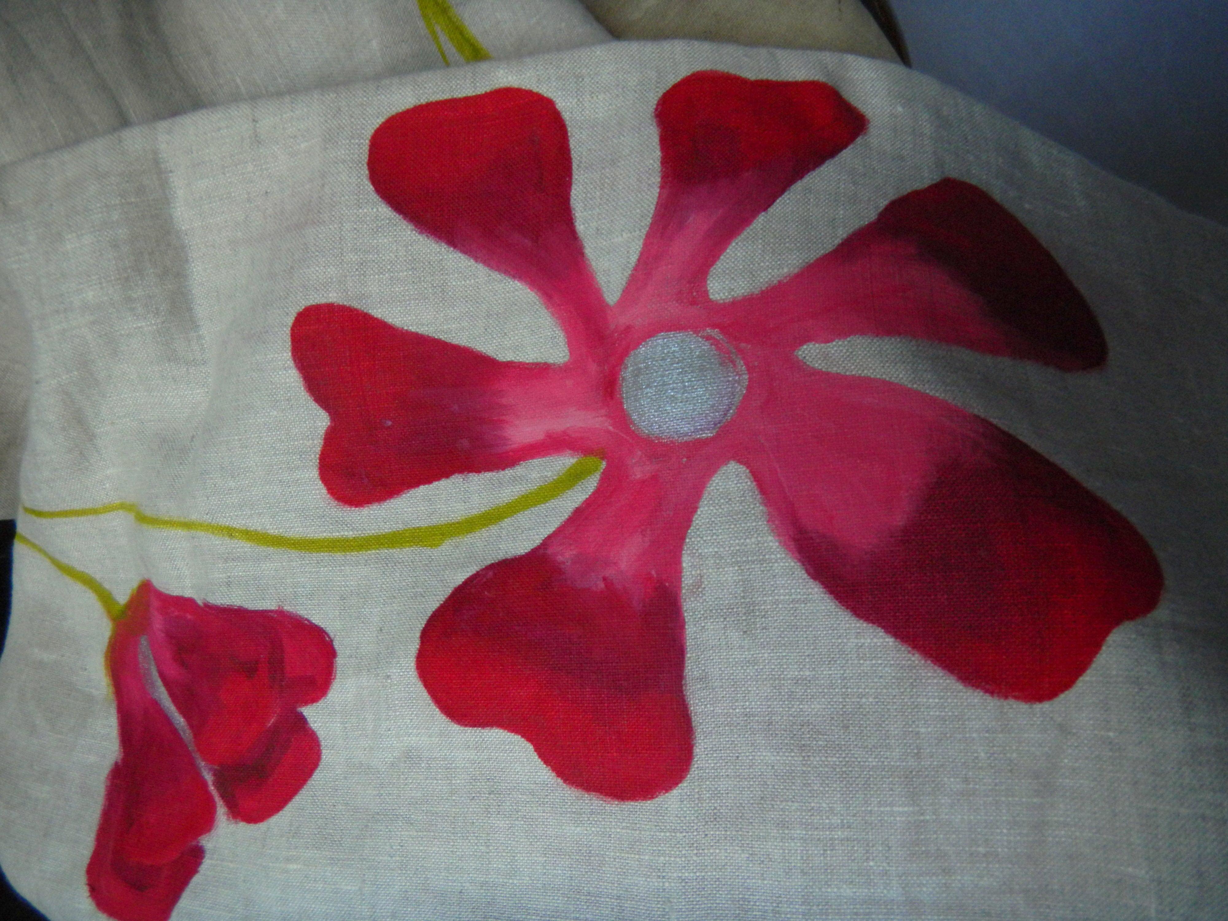 Louise.h accessoires écharpe lin peinte à la main
