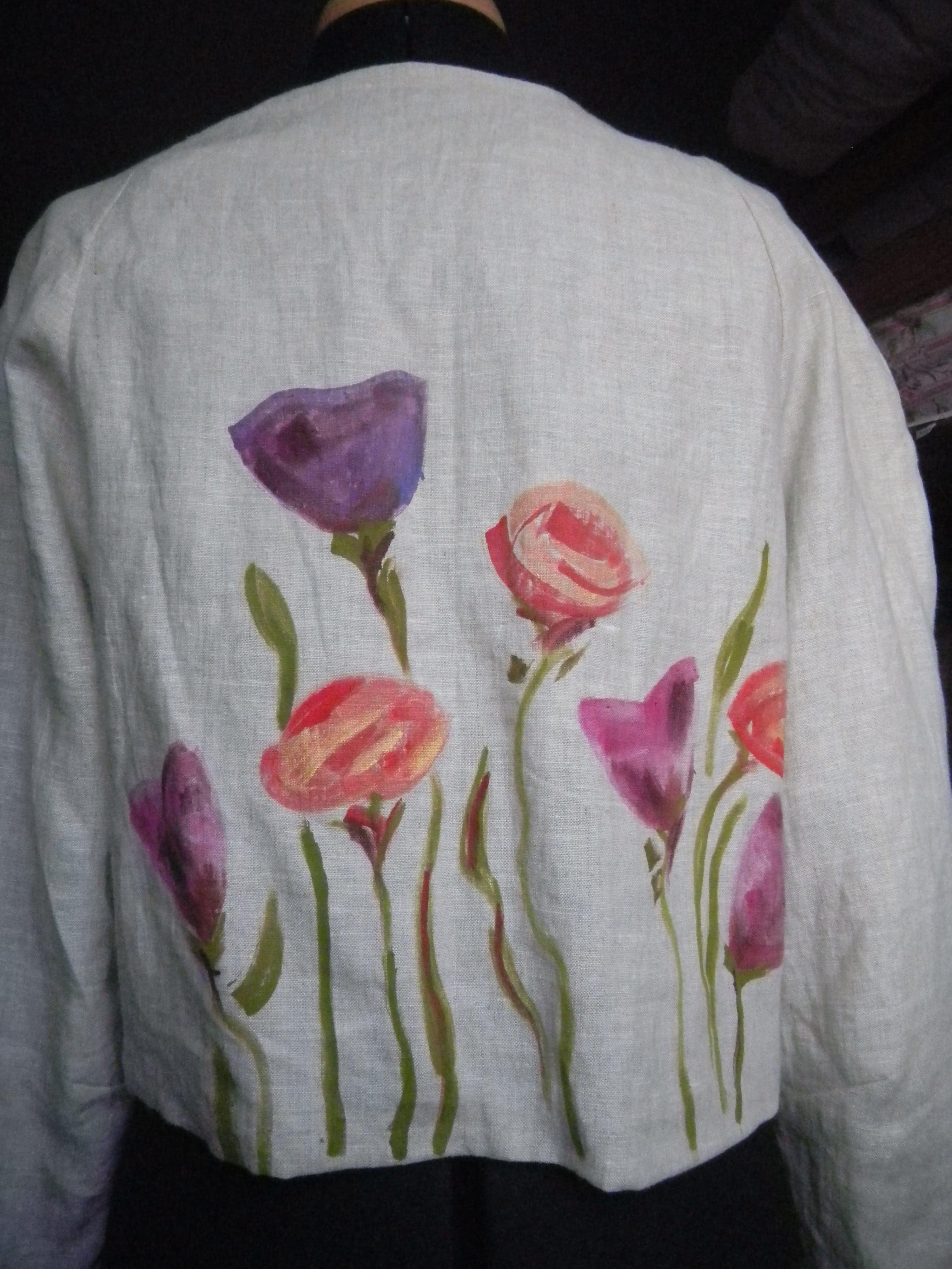 Louise.h vêtement veste peinte