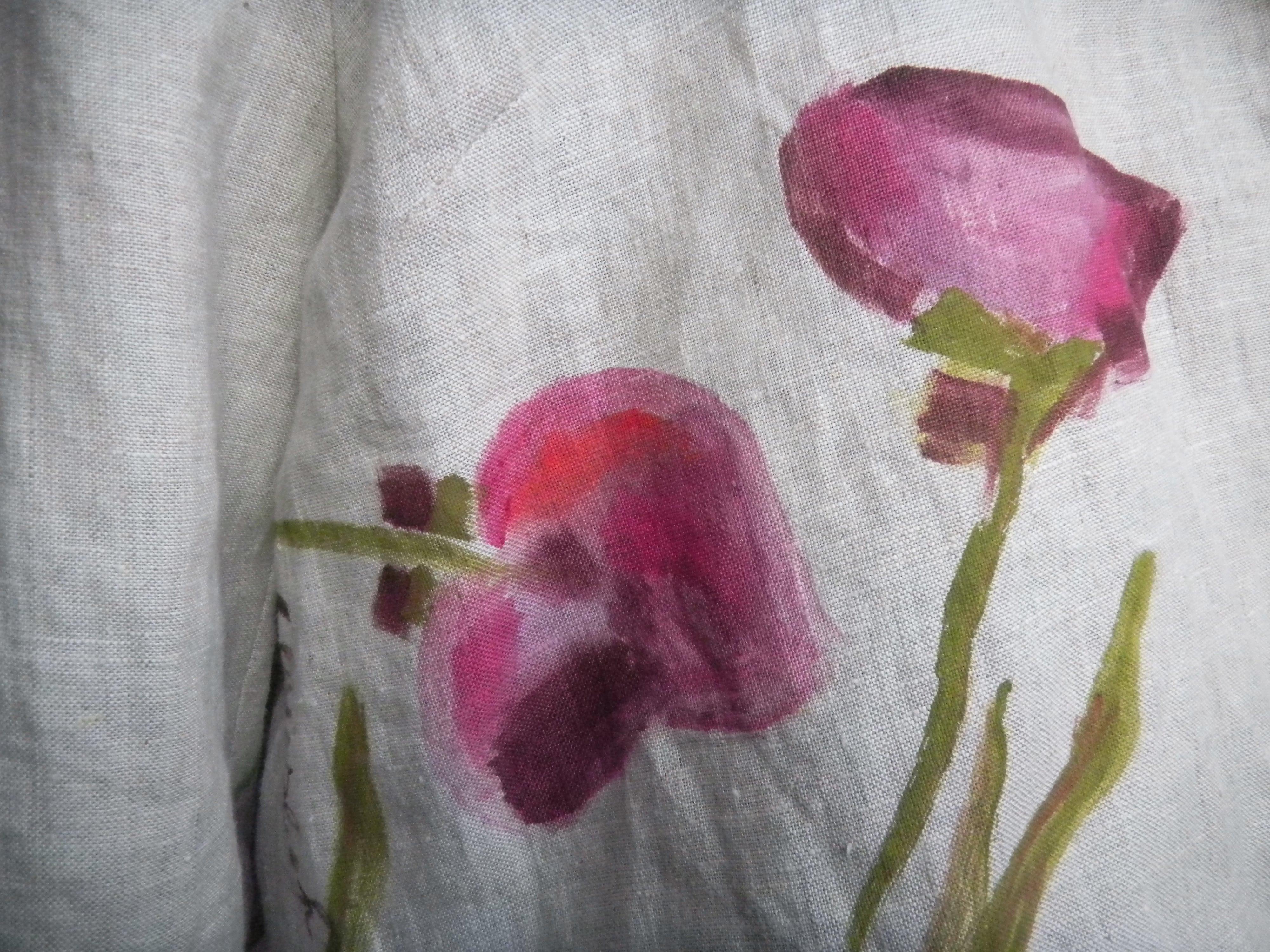 Louise.h vêtement détail veste peinte