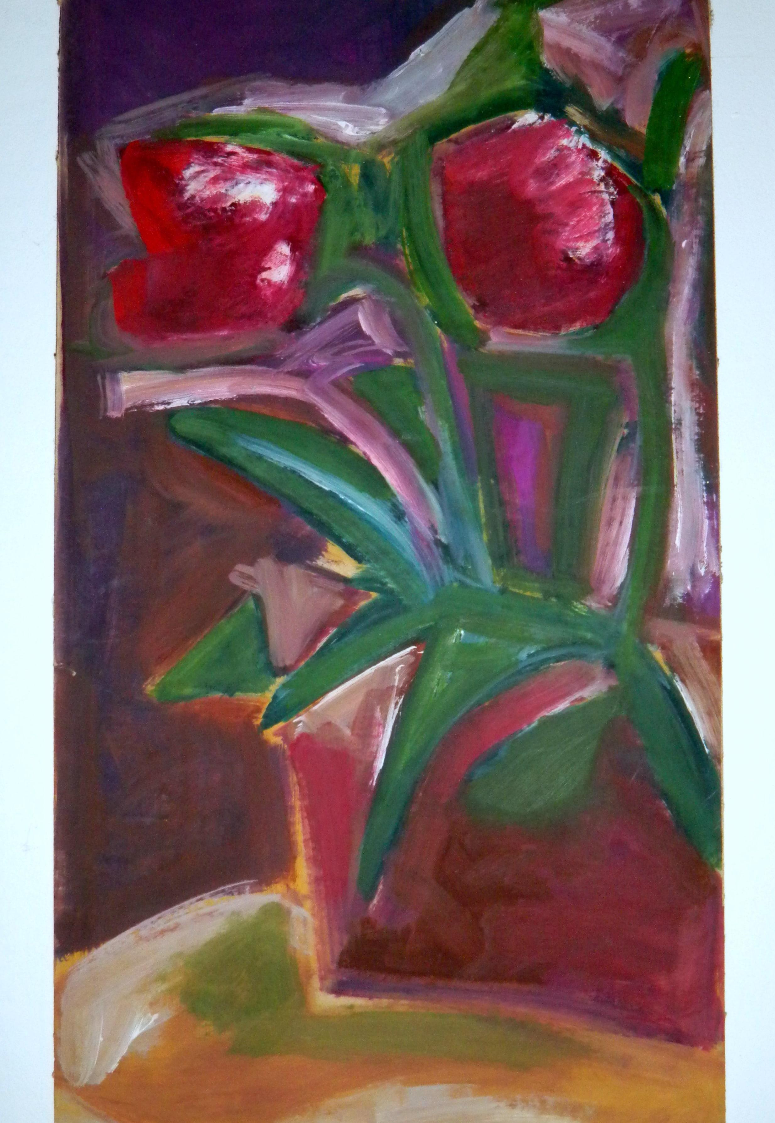 Louise.h peinture huile fleurs