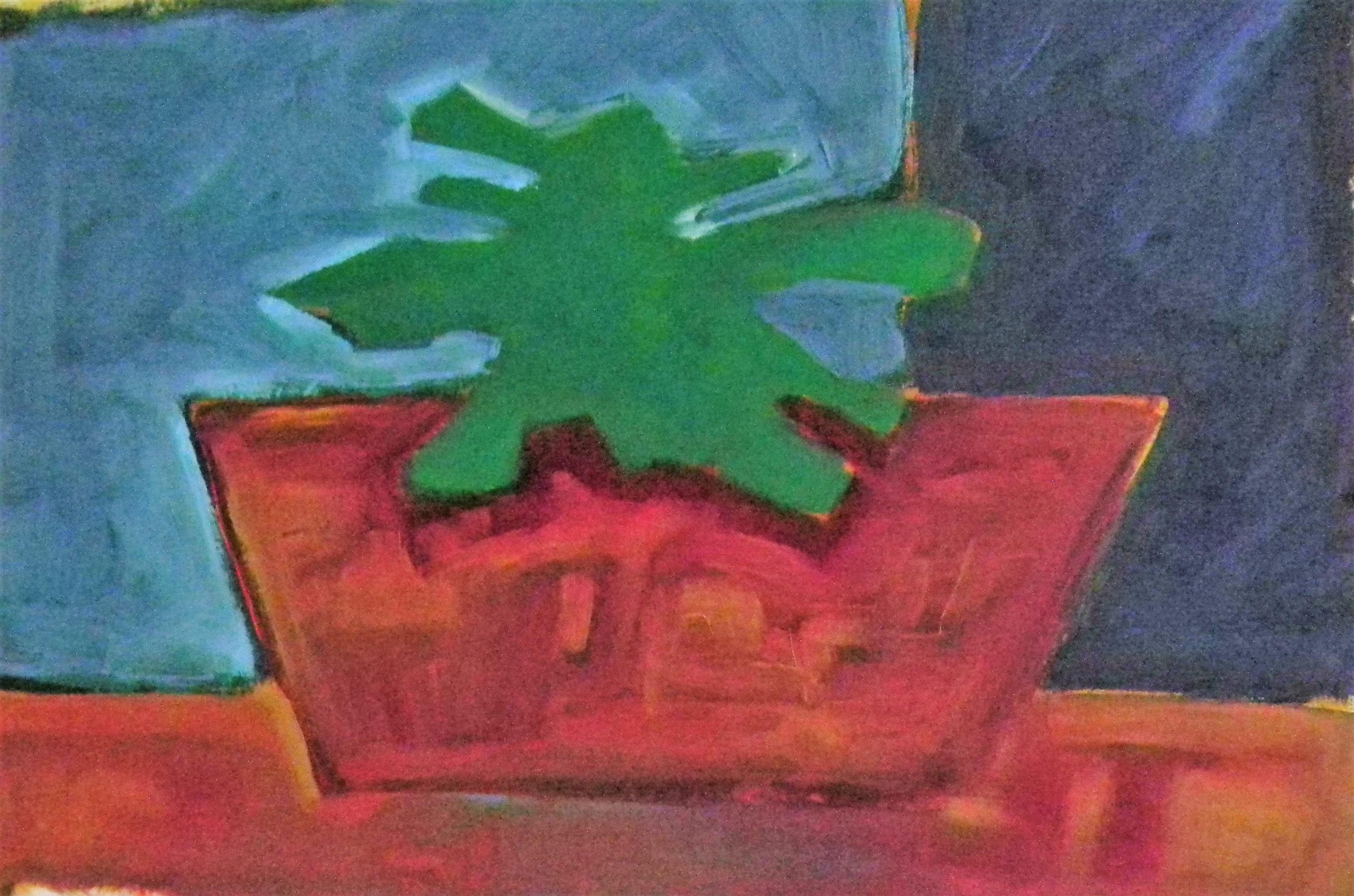 Louise.h peinture mur bleu et fleur