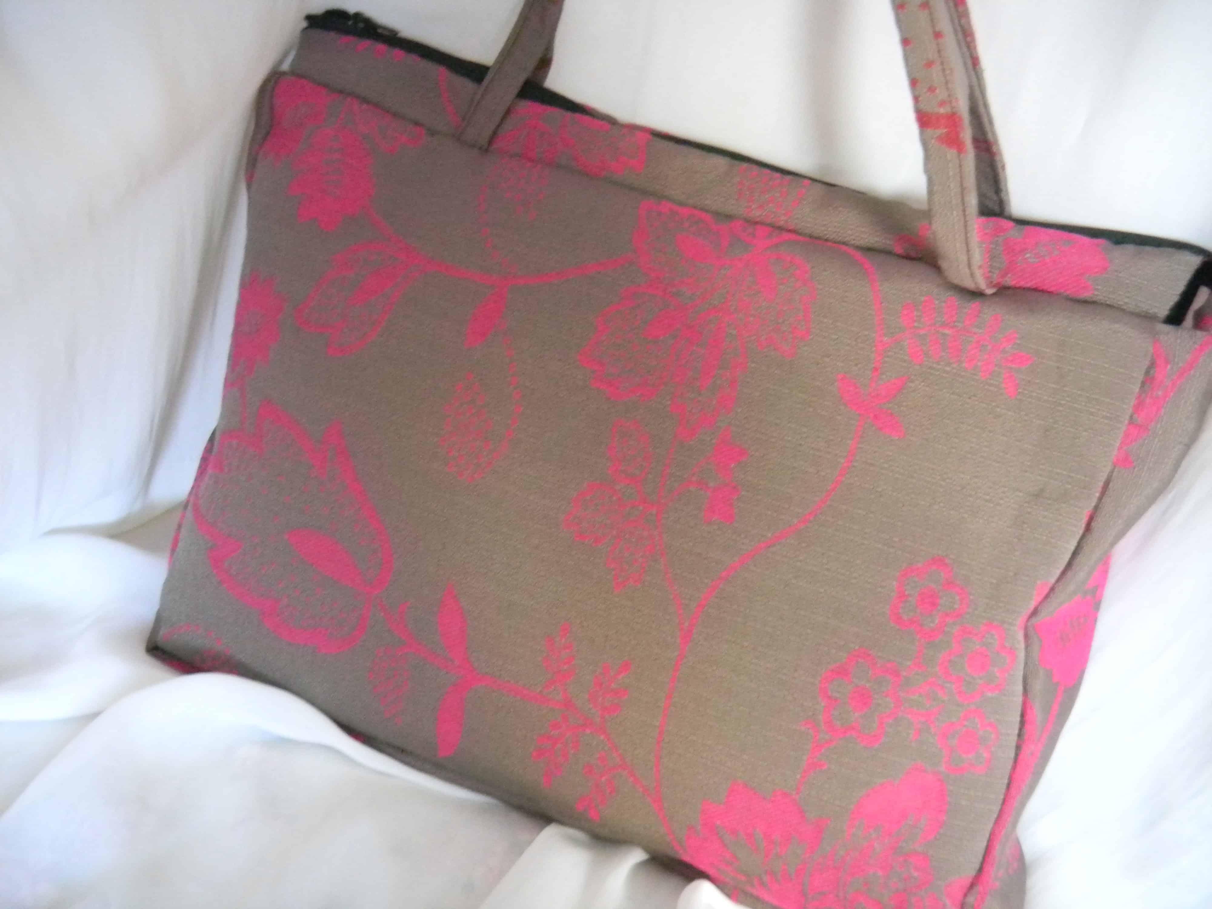 Louise.h accessoires sac tissu et laine feutrée