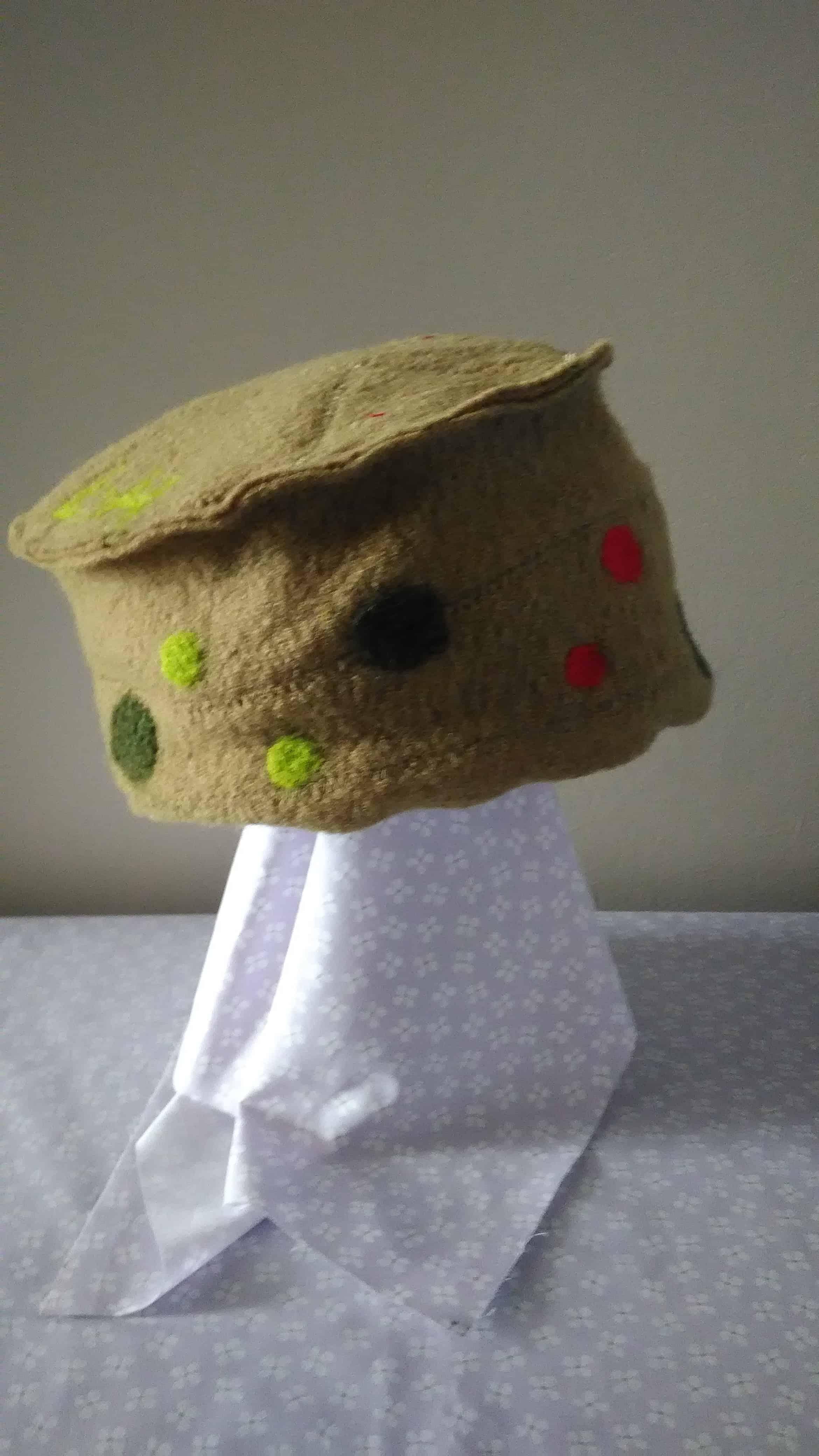 Louise.h accessoires chapeau en laine bouillie vert
