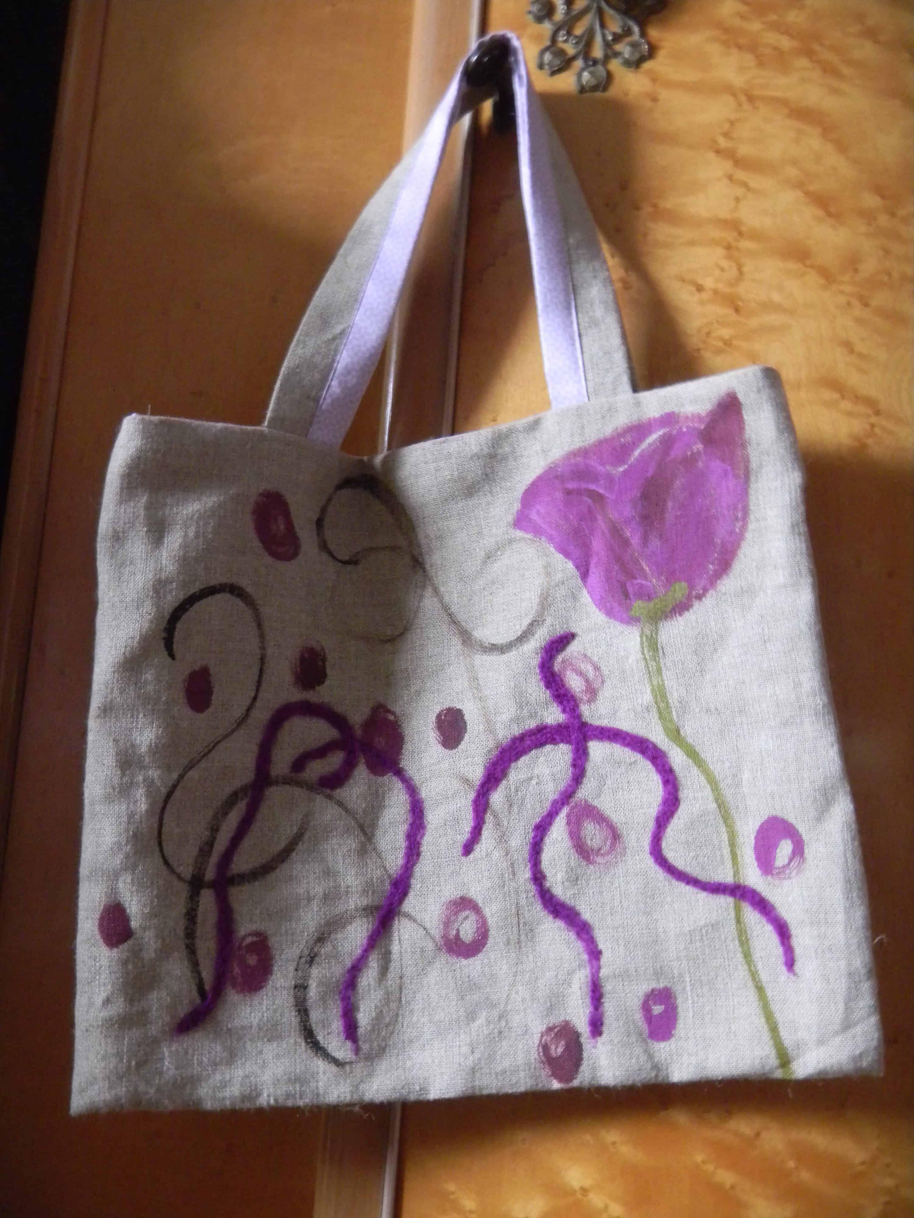 Louise.h accessoires sac lin et peinture