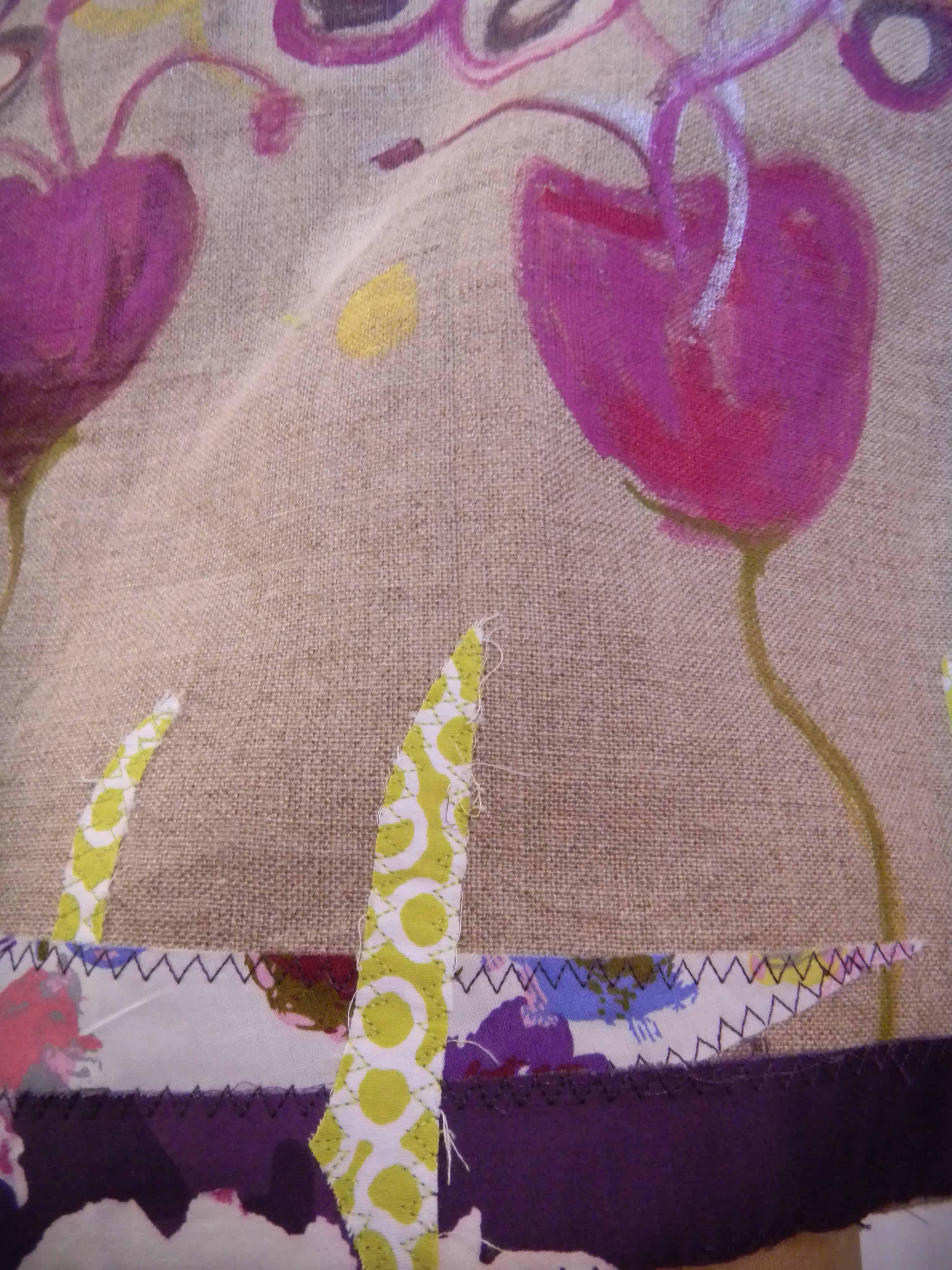 Louise.h accessoires sac lin peint 3 détail et applications