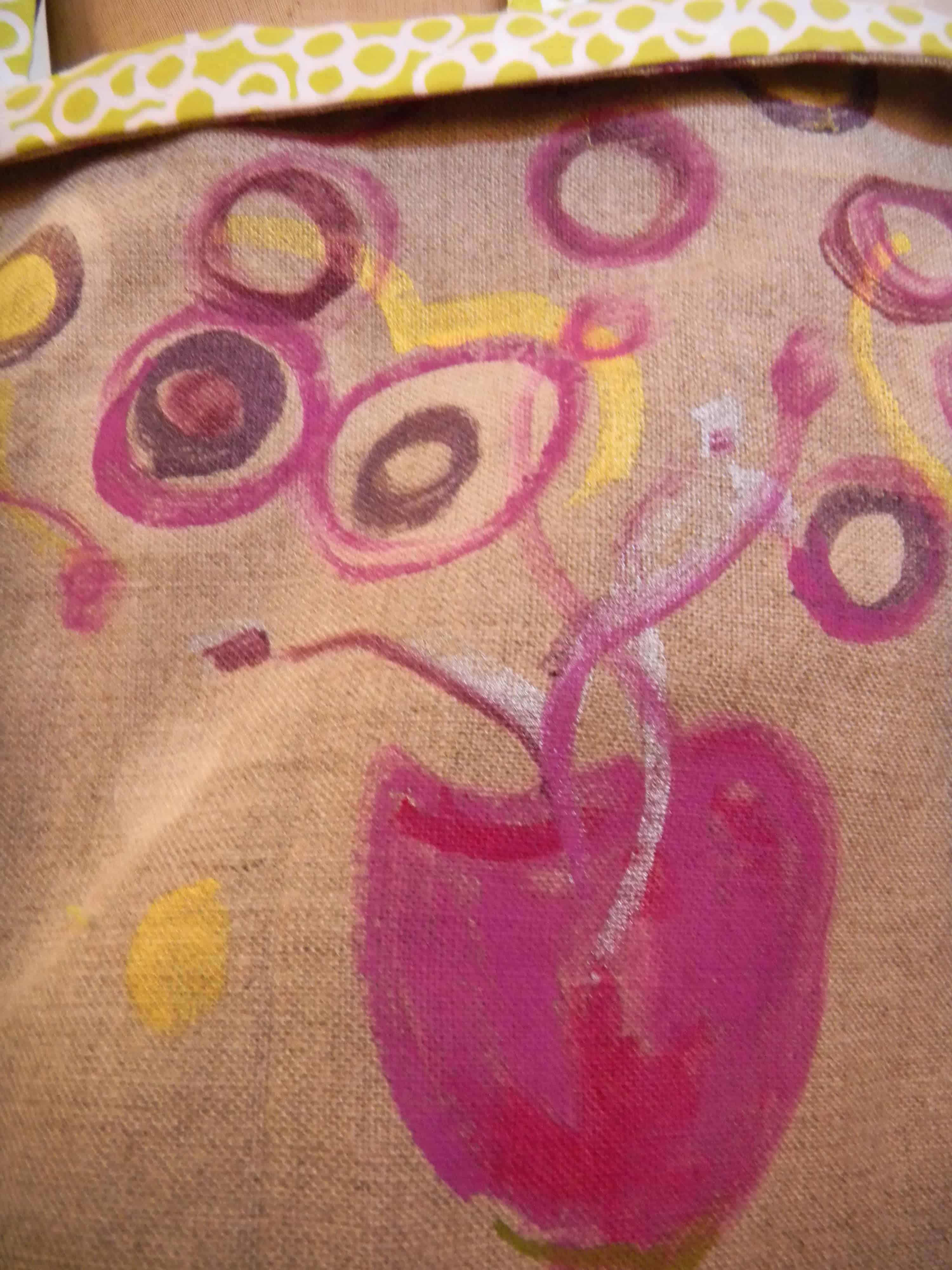 Louise.h accessoires sac lin peint 3 détail