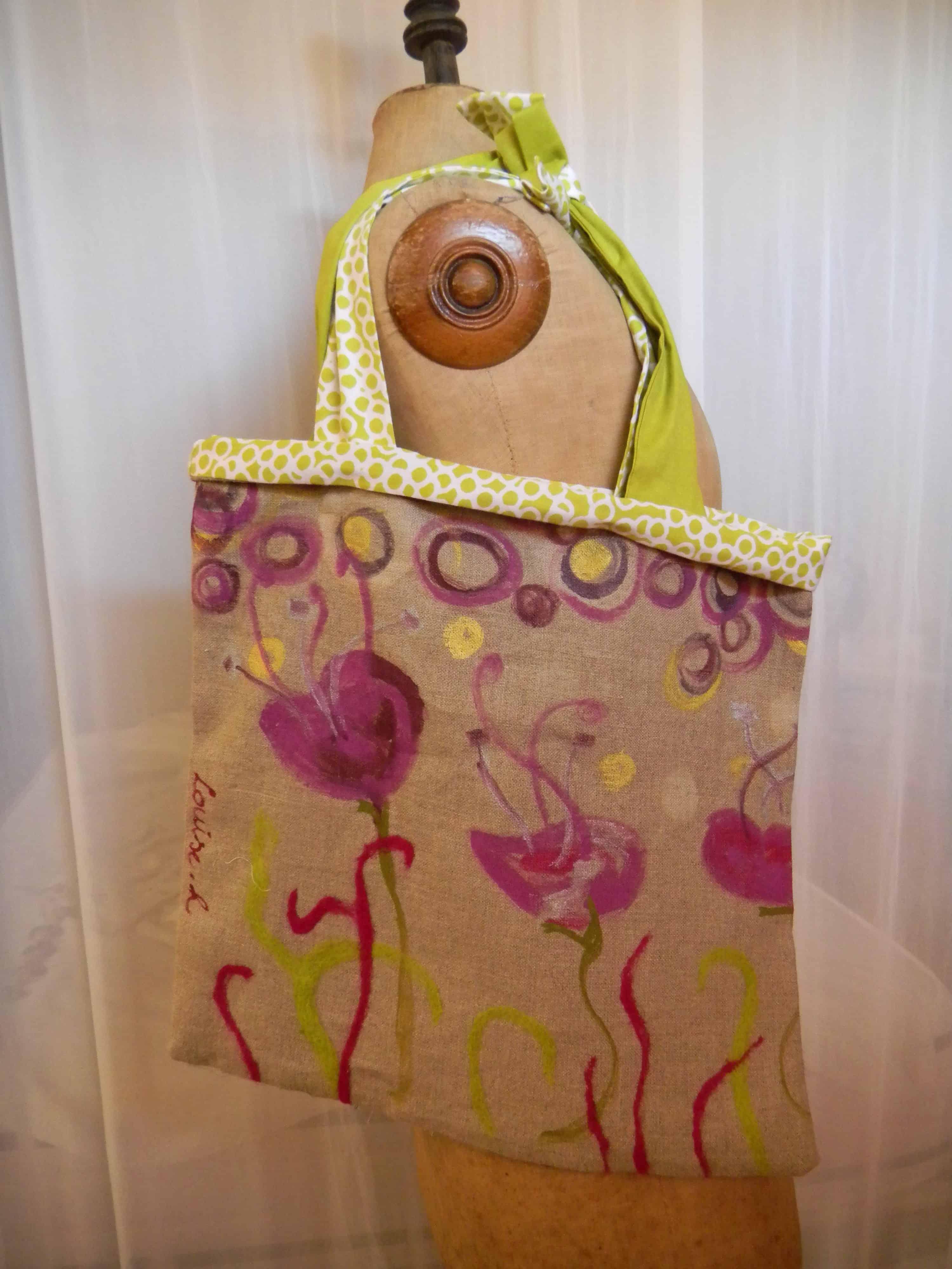 Louise.h sac lin peint