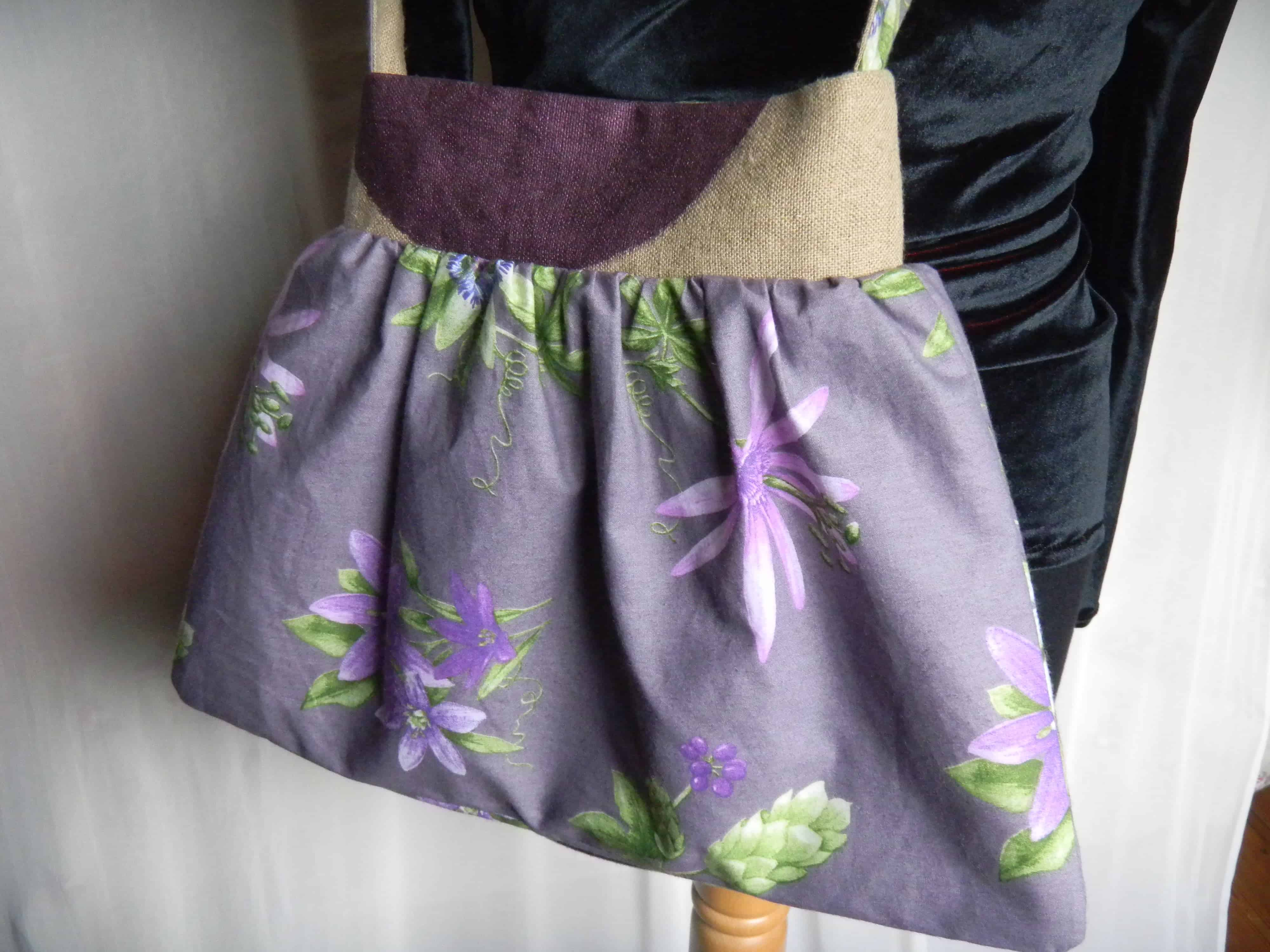 Louise.h sac lin tissu et peinture