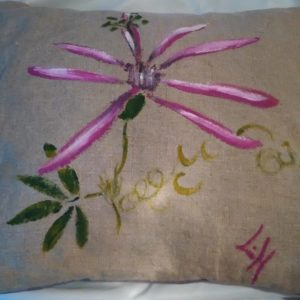 Louise.h coussin passiflore