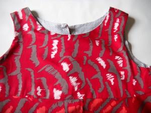 Louise.h vêtement robe été rouge devant