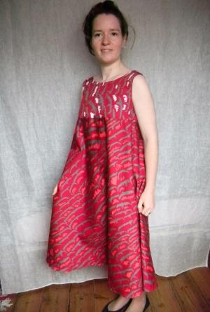 Louise.h vêtement robe rouge été